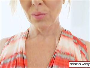FirstClass pov - love Julia Ann throating a ginormous thick chisel