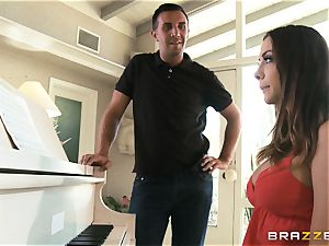 Piano liking stunner Chanel Preston screws her educator