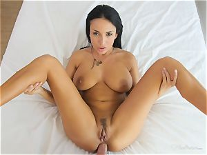 Milfy mummy Anissa Kate boinked deep in her pussy pie
