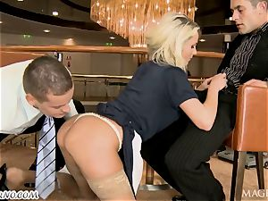 buzzed Head with his mate plowed barmaid