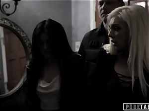 unspoiled TABOO Corrupt Cop Blackmails and boinks 2 teenagers