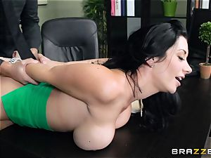 thick boobed chief Jayden Jaymes porks her new employee